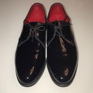 NEW Allen Edmonds Kendall Black Patent 10 E